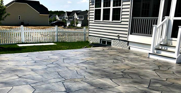 Extend Concrete Patio With Flagstone