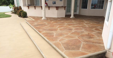 Flagstone Patio on Concrete