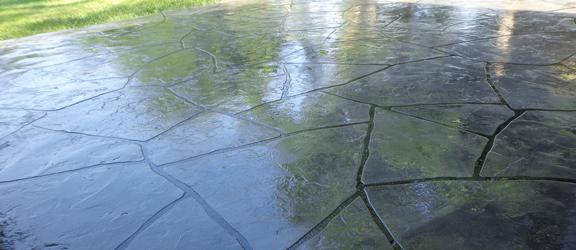 Stamped Concrete Flagstone Patio